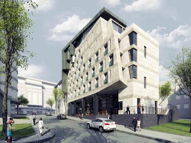 "Butterfly Hotel Complex. Overview © ""Bogachkin & Bogachkin"" Bureau"