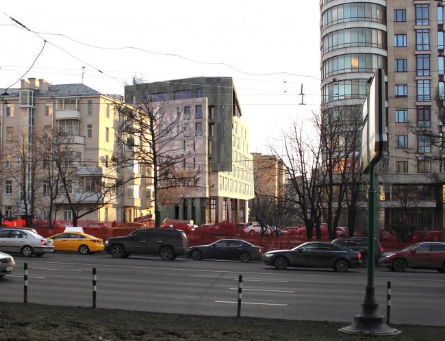 "Butterfly Hotel Complex. View from Novy Arbat © ""Bogachkin & Bogachkin"" Bureau"