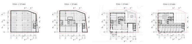 Гостиничный комплекс Butterfly. Планы этажей © Архитектурное бюро «Богачкин и Богачкин»