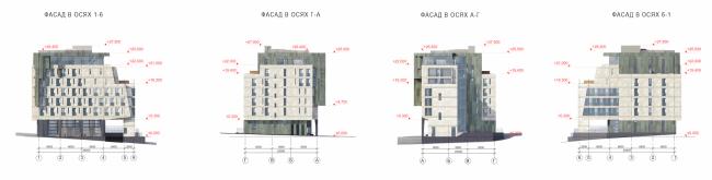 "Butterfly Hotel Complex. Facades © ""Bogachkin & Bogachkin"" Bureau"