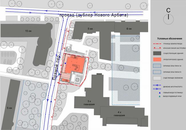 Гостиничный комплекс Butterfly. Генеральный план © Архитектурное бюро «Богачкин и Богачкин»