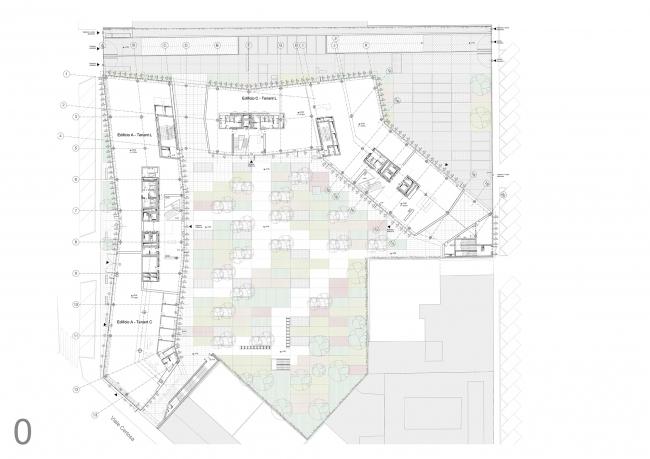План офисного комплекса Green Place © Goring & Straja Architects