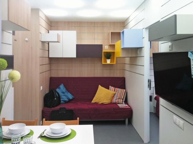 Концепция дизайна малогабаритных квартир. Фотографии © Arch group