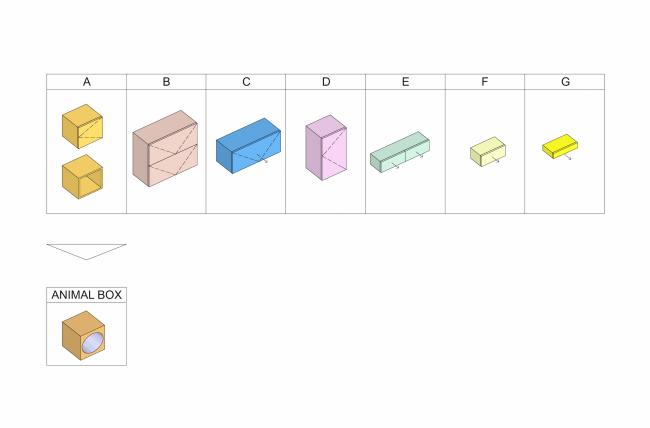 Концепция дизайна малогабаритных квартир. Схема базовых модулей © Arch group