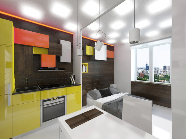 Design concept for efficiency apartments. Project © Arch group