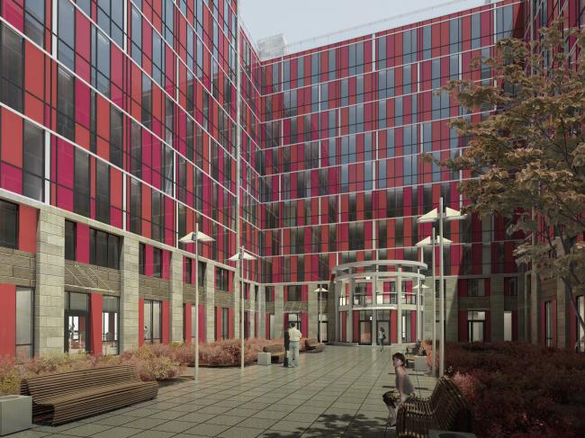 Apar-hotel at he Tallinskaya Street. Yard. Project 2013 © A.A.Stolyarchuk Studio