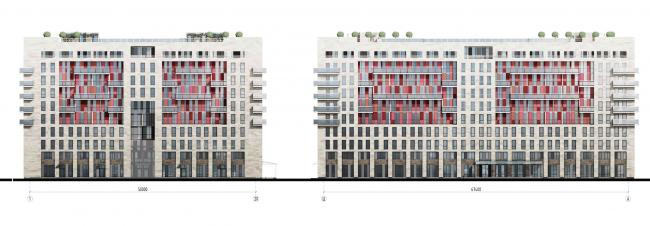 Apar-hotel at he Tallinskaya Street. Facades. Project 2013 © A.A.Stolyarchuk Studio