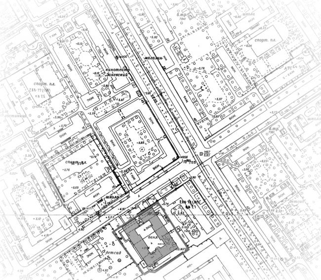 Апарт-отель на Таллинской улице. Ситуационный план. Проект 2013 © Архитектурная мастерская А.А. Столярчука