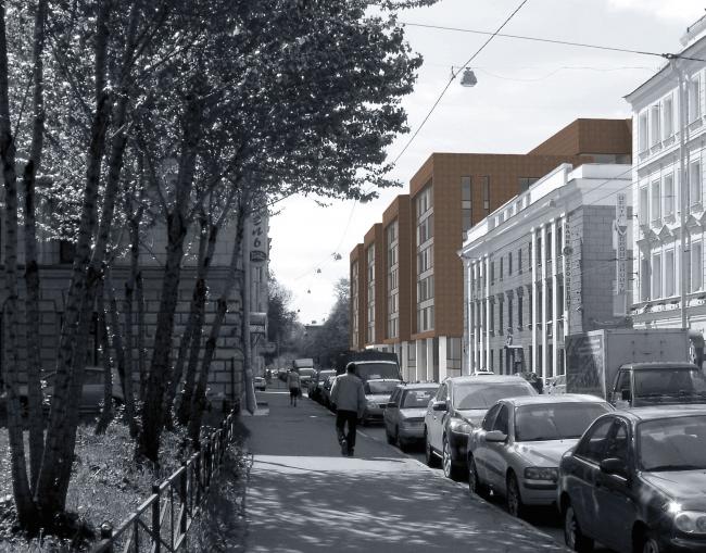 Бизнес-центр на Большом Сампсониевском проспекте. Проект, 2011 © Архитектурная мастерская А.А. Столярчук