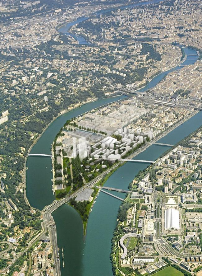 Вид района с воздуха © Herzog & de Meuron
