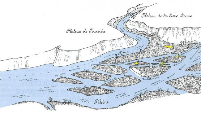 Лионский полуостров в эпоху ранней античности © ALPARA-DARA n°2