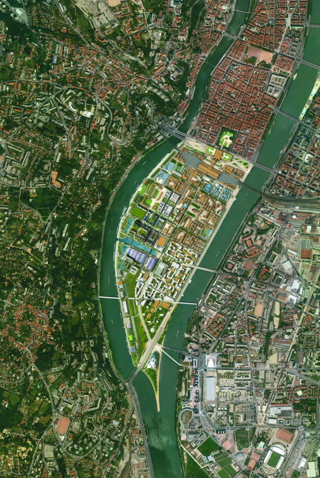 Мастерплан Лион-Конфлюанс. (информация с сайта http://www.lyon-confluence.fr/)