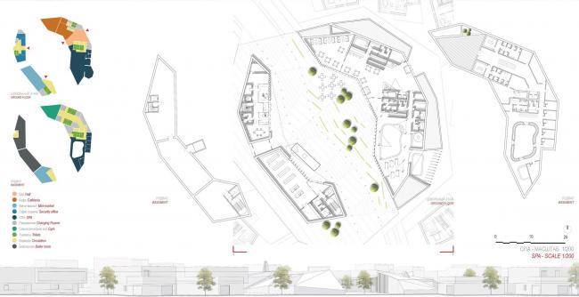 Инновационный центр «Сколково». Район D2 «Технопарк». Жилой квартал №11. Конкурсный проект © Agence d′Architecture Anthony Bechu