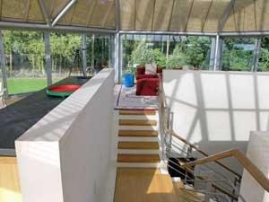 Парковый павильон в Уилтшире. Интерьер второго этажа