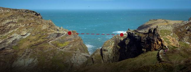 Схема расположения будущего моста. Изображение с сайта competitions.malcolmreading.co.uk/tintagel
