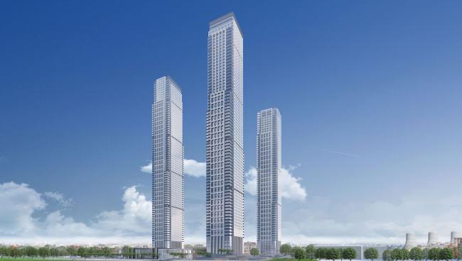Многофункциональный жилой комплекс в 5-ом Донском проезде. 4 башни. Вариант 1. Проект, 2015 © Архитектурная мастерская «Группа АБВ»