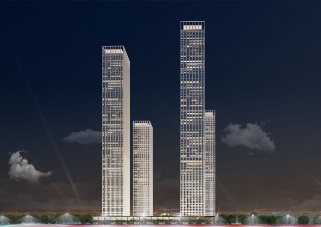 Multifunctional residential complex on the 5th Donskoy Proezd. 4 towers. Version 2. Project, 2015 © ABV Group