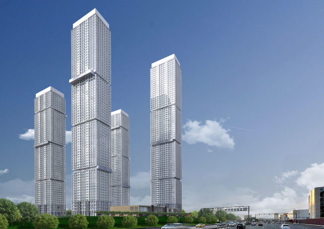 Multifunctional residential complex on the 5th Donskoy Proezd. 4 towers. Version 3. Project, 2015 © ABV Group