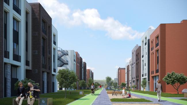 Жилой комплекс «Голландский квартал» в Ивантеевке. Проект, 2013 © UNK project