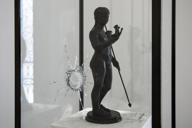 Вид экспозиции музея Бардо после теракта 18 марта 2015 года © Gianluca Baronchelli