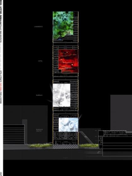 Жан Нувель. Башня Signal. Конкурсный проект