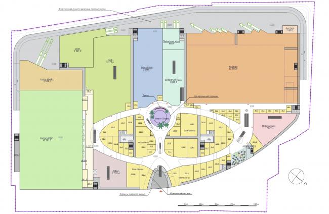 Торгово-развлекательный комплекс «Бурундуки». План 1 этажа. Проект, 2015 © АРХИМАТИКА