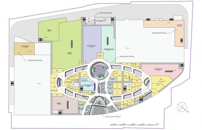 Торгово-развлекательный комплекс «Бурундуки». План 2 этажа. Проект, 2015 © АРХИМАТИКА