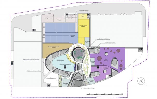 Торгово-развлекательный комплекс «Бурундуки». План 3 этажа. Проект, 2015 © АРХИМАТИКА