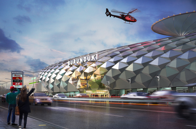 "Shopping and entertainment complex ""Burunduki"". Project, 2015 © ARKHIMATIKA"