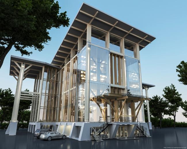 Фасадная концепция для Good Wood Plaza. Автор: Андрей Мазур (Волгоград)