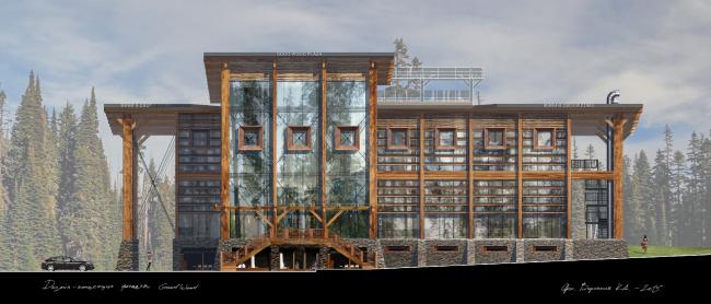 Фасадная концепция для Good Wood Plaza. Автор: Кирилл Воронков (Москва)