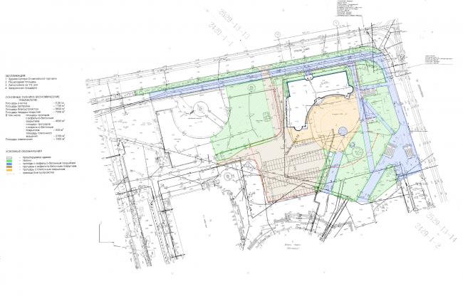 Центр Олимпийской торговли (Торговый центр «Артём»). Генеральный план. Постройка, 2003 © Архитектурная мастерская А.А. Столярчука