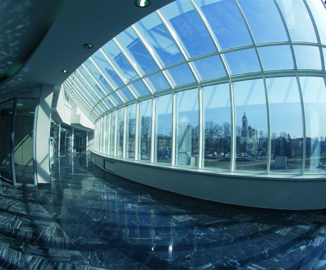 Центр Олимпийской торговли (Торговый центр «Артём»). Интерьер. Постройка, 2003 © Архитектурная мастерская А.А. Столярчука