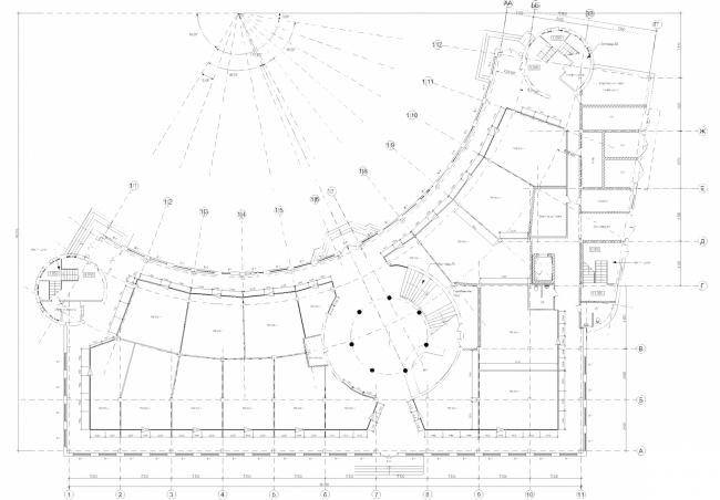 Центр Олимпийской торговли (Торговый центр «Артём»). План 1 этажа. Постройка, 2003 © Архитектурная мастерская А.А. Столярчука