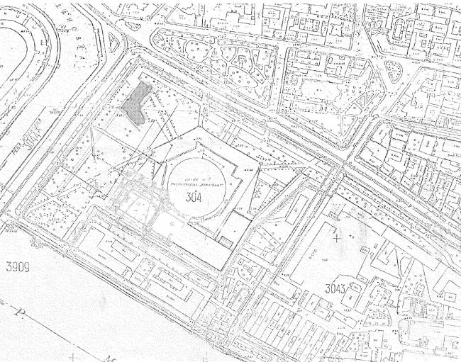 Центр Олимпийской торговли (Торговый центр «Артём»). Ситуационный план. Постройка, 2003 © Архитектурная мастерская А.А. Столярчука