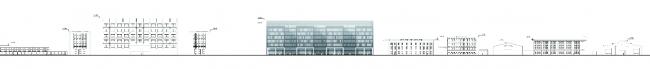 Бизнес-центр на Большом Сампсониевском проспекте. Развертка. Проект, 2011 © Архитектурная мастерская А.А. Столярчук