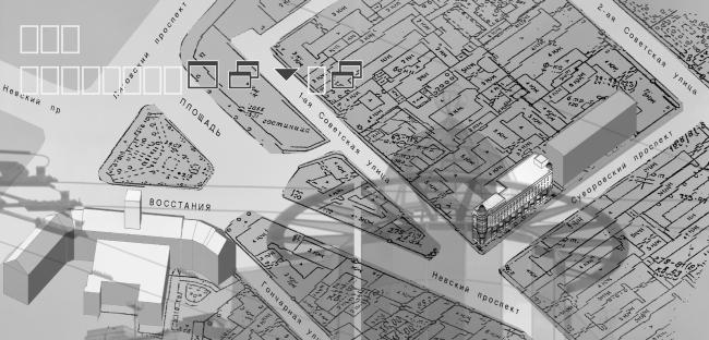 Центр досуга с апартаментами. Ситуационный план. Постройка, 2002 © Архитектурная мастерская А.А. Столярчука