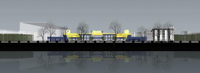 Торговый комплекс «Лента» на набережной Обводного канала. Постройка, 2005 © Архитектурная мастерская А.А. Столярчука
