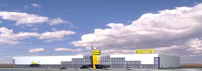 Торговый комплекс «Лента» на Пулковском шоссе. Постройка, 2002 © Архитектурная мастерская А.А. Столярчука