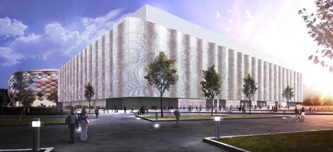 "Multifunctional complex of ""Spartak"" football stadium. Option 2 © GrandProjectCity"