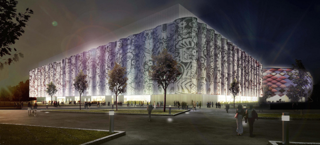 "Multifunctional complex of ""Spartak"" football stadium. Option 2 © GrandProjectCity"