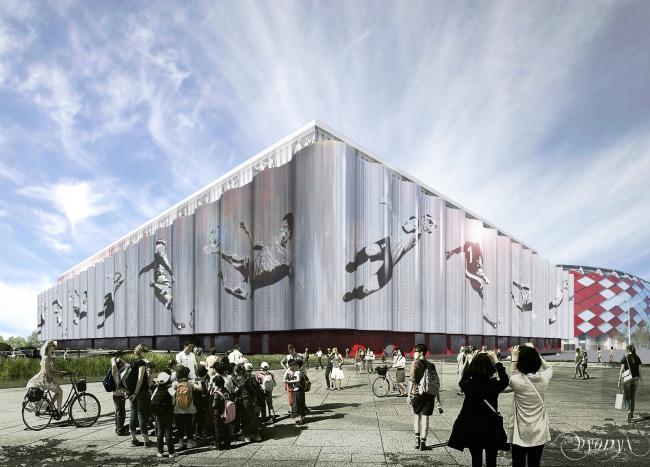 "Multifunctional complex of ""Spartak"" football stadium. Option 3 © GrandProjectCity"
