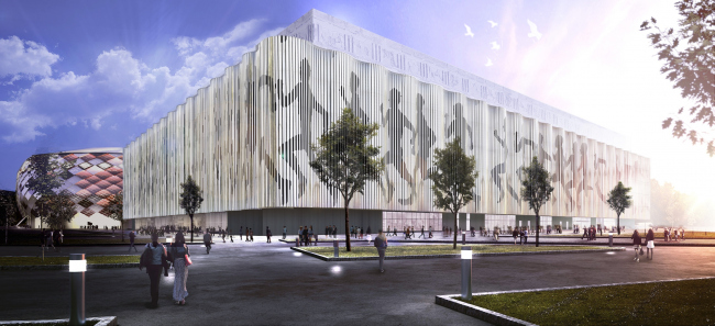 "Multifunctional complex of ""Spartak"" football stadium. Option 5 © GrandProjectCity"