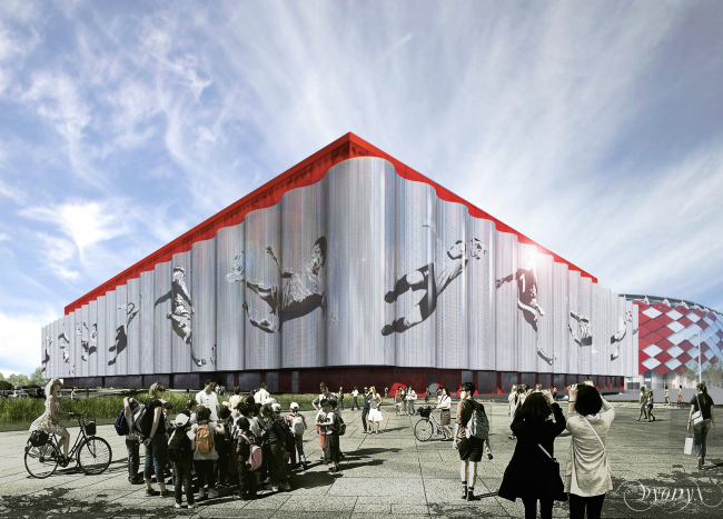 "Multifunctional complex of ""Spartak"" football stadium. Option 4 © GrandProjectCity"