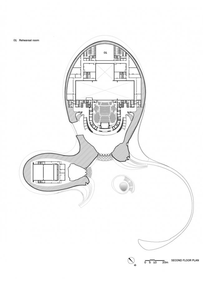 Оперный театр в Харбине © MAD Architects