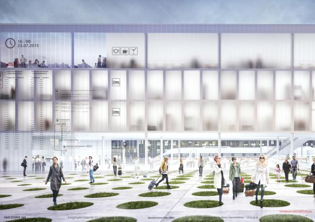 Транспортно-пересадочный узел «Павелецкая». Проект, 2015 © Архитектурное бюро WALL