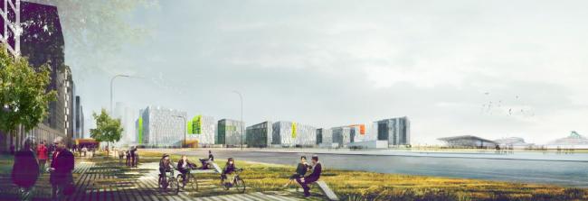Концепция развития намывных территорий на Васильевском острове © Архитектурное бюро «А.Лен». Предоставлено компанией Glorax Development