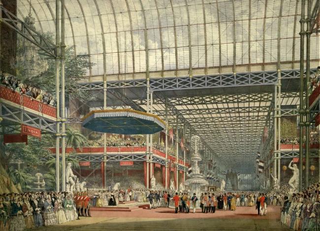 Хрустальный дворец, Лондон. Проект Дж.Пэкстона. 1851