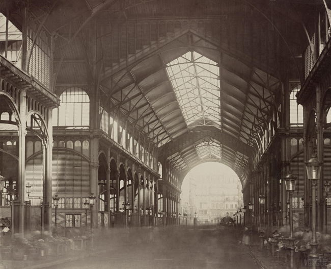 Центральный рынок Ле-Алль («Чрево Парижа»). Архитекторы В.Бальтар, Ф.Калле. 1850-1870. Фото: Charles Marville