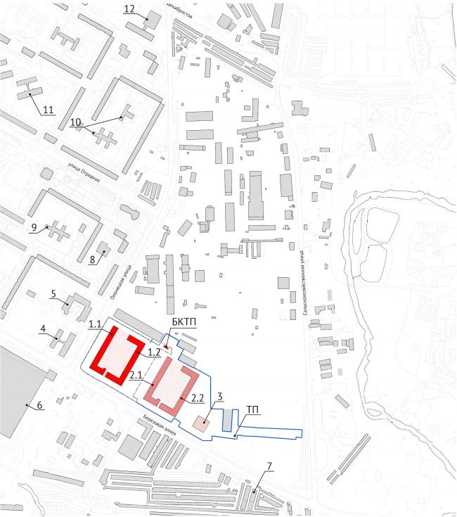 ЖК Green Park. Ситуационный план © Проектное бюро «Апекс» и buromoscow. Заказчик: ГК ПИК